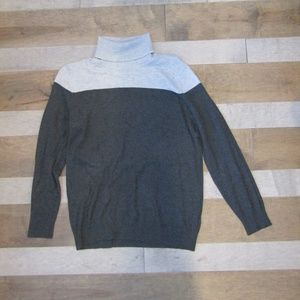 Shades Of Gray Turtleneck Top